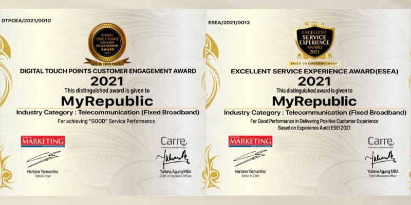 Digital Touch Points Customer Engagement Award and Excellent Service Experience Award 2021